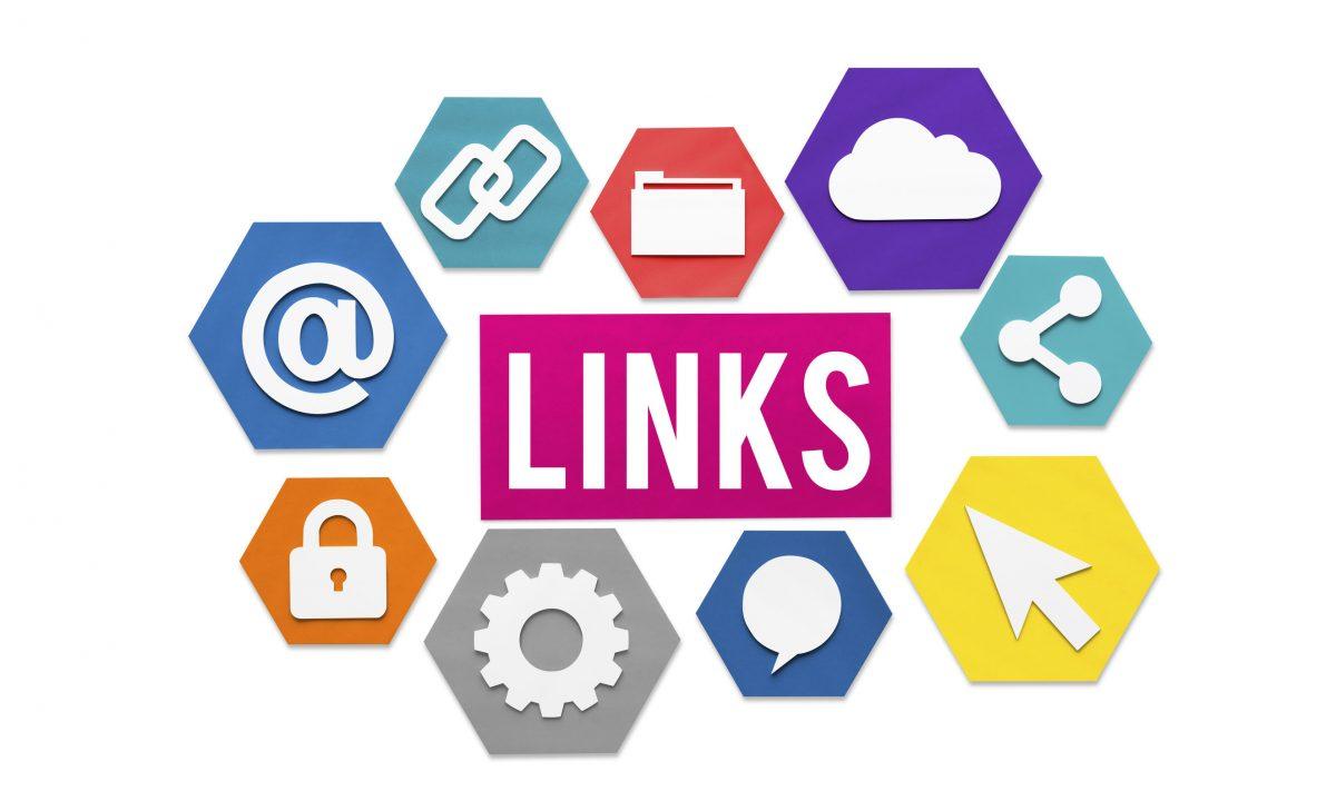 Links Internet Connection backlinks Concept
