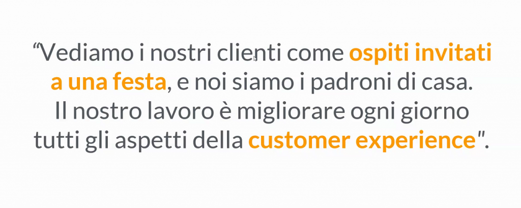 Frase di Jeff Bezos di Amazon sulla customer experience.