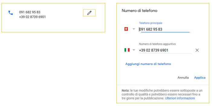 telefono google my business