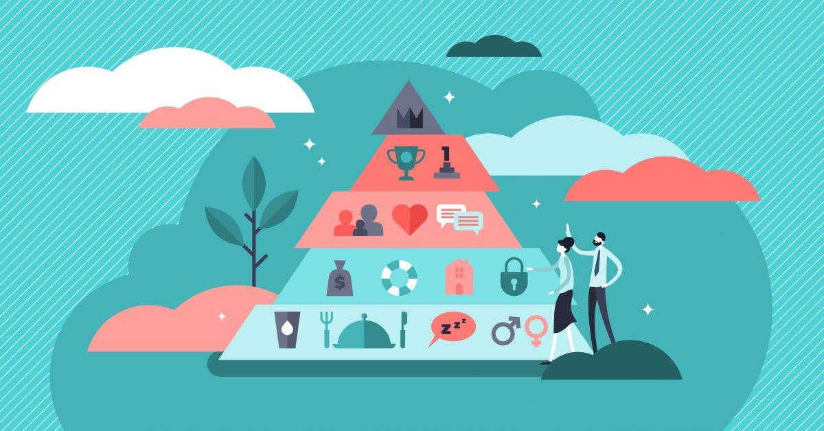 Stilizzazione della piramide dei bisogni di Maslow