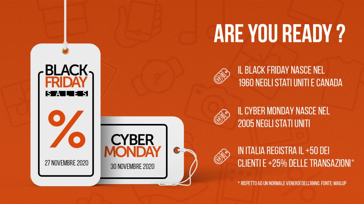 Date e informazioni sul black Friday e Cyber Monday