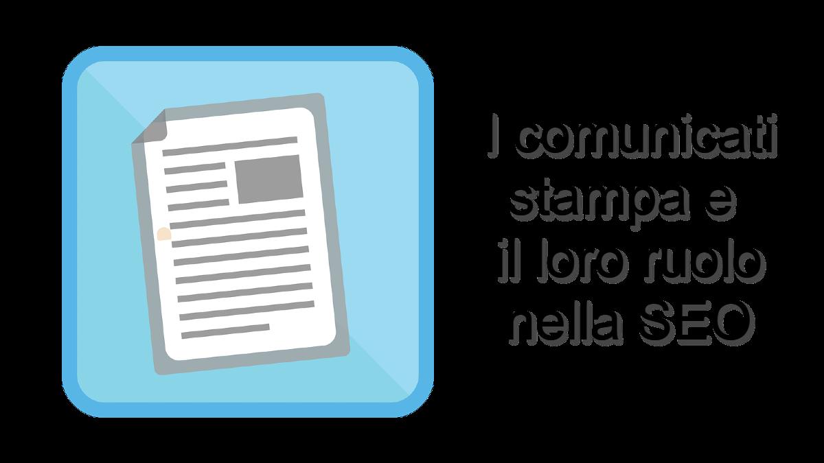 Icona di comunicato stampa e ruolo SEO