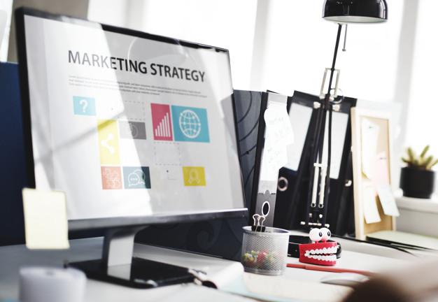 Marketing Strategy su uno schermo di PC