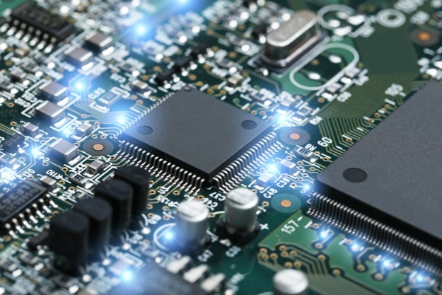 Chip digitale in una circuit board