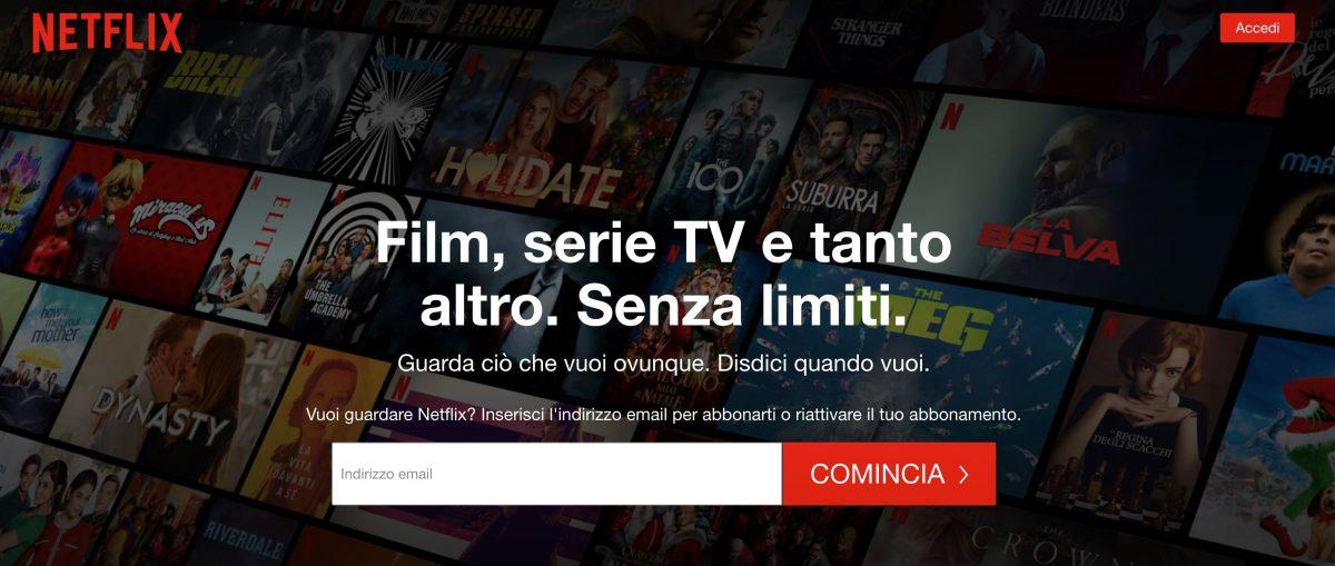 Esempio di landing page da imitare: Netflix