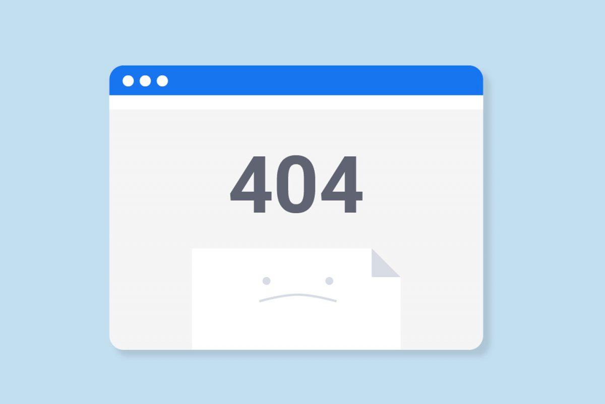 Errore 404: collegamento interrotto
