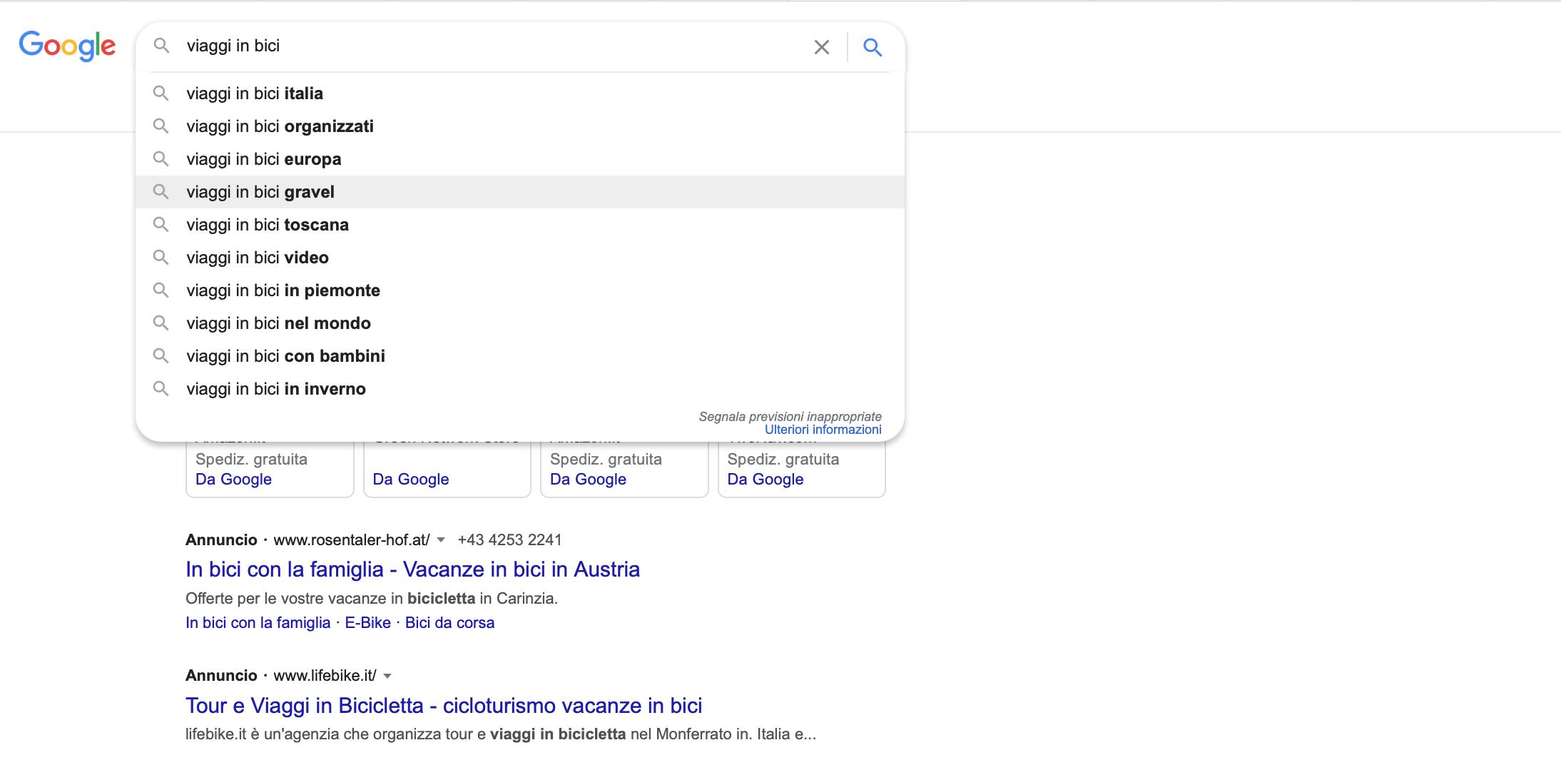 Sfruttale l'autocomplete di Google per ottenere idee su articoli da pubblicare