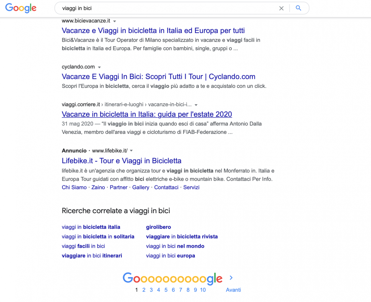 """Sfruttare il Box """"Ricerche correlate a"""" nei risultati Google"""