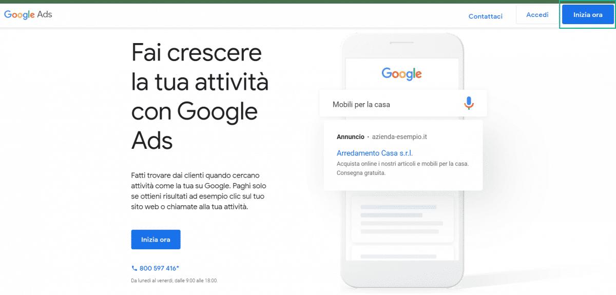 registrazione a google ads